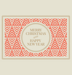 Winter holidays greeting card vector