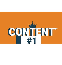 Content word on the first place vector image