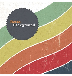 retro background with colorful lines vector image vector image