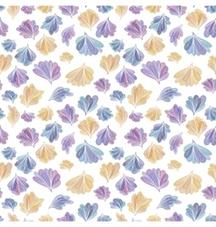 Abstract Fall Leaves Pattern vector image vector image