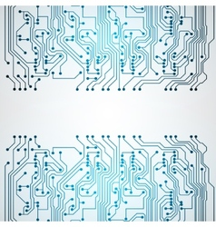 Background with circuit board texture vector image vector image