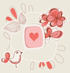 bird singing love vector image vector image