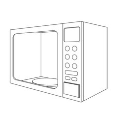 microwave oven outline drawing vector image vector image