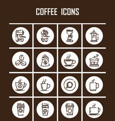 outline web mono symbol icon set - drink vector image vector image