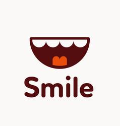 smile logo vector image vector image