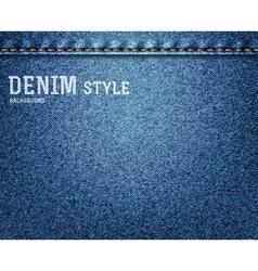 Denim jeans texture vector image