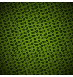 Diagonal Floral green background vector image vector image