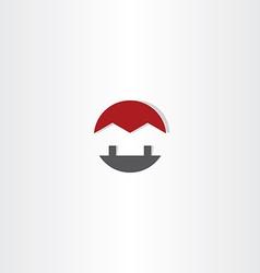 house circle icon home real estate logo icon vector image vector image
