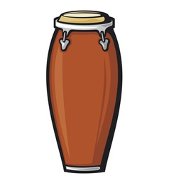 African conga drum vector image