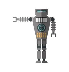 brown robot technology future artificial vector image