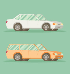 car in flat style vehicle icon vector image vector image