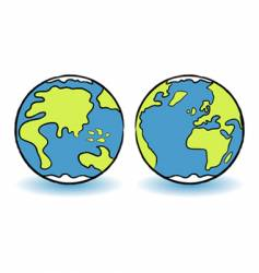 childish globes vector image vector image