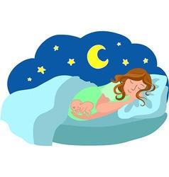 Dreams of pregnancy vector image vector image