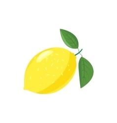 Yellow lemon icon cartoon style vector image