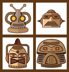 01 Head Robot Design VST vector image