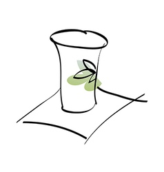 A paper cupA paper cup vector