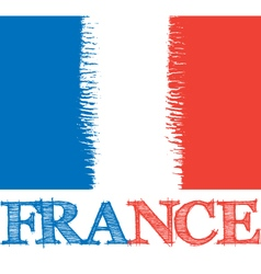 abstract France flag vector image