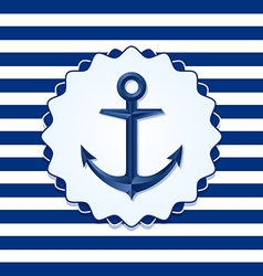 Anchor badge vector