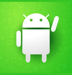 android roboter icon programming mobile software vector image