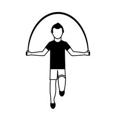 athlete avatar character jump rope icon vector image