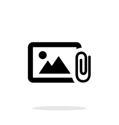 Attach photo icon on white background vector image
