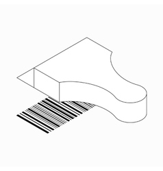 Barcode scanner icon isometric 3d style vector image