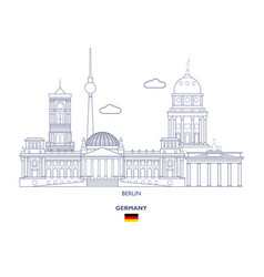 Berlin city skyline vector