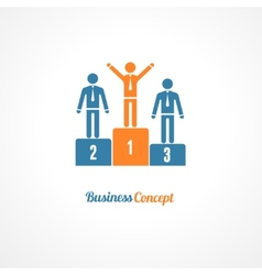 Business Winners Podium Symbol vector image