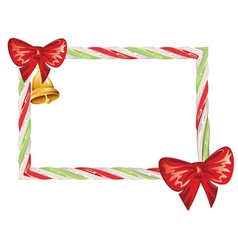 Candy Cane Frame2 vector image