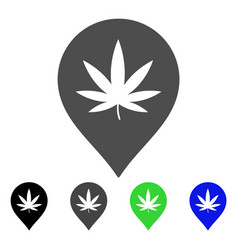 Cannabis marker flat icon vector