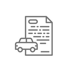 Car loan credit for automobile line icon vector