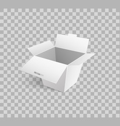 cardboard icon mockup of carton box 3d isometric vector image