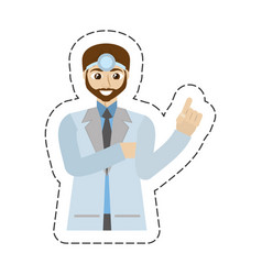 cartoon beard doctor male professional work vector image