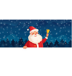 cartoon christmas santa claus winter holiday vector image