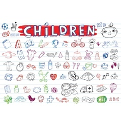 Children icon set vector image