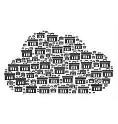 cloud collage of analysis icons vector image
