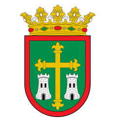 Coat arms campezo in basque country in spain vector