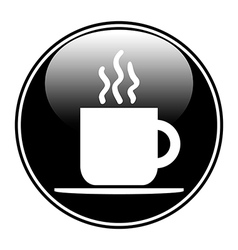 Coffee button vector