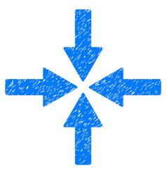 Collide arrows grunge icon vector