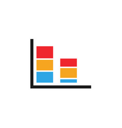 colorful bar chart graphic icon design template vector image
