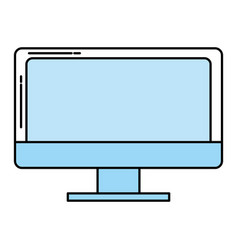 computer screen technology vector image