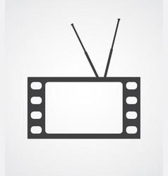 conceptual tv vector image