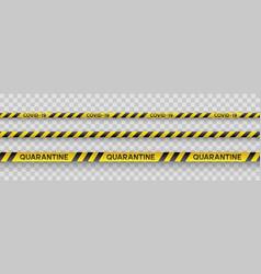 Coronavirus quarantine yellow and black stripes vector