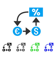 Currency cashflow flat icon vector