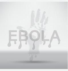 deadly ebola virus epidemic vector image