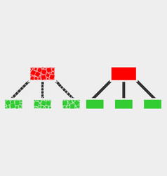 dotted and flat hierarchy links icon vector image