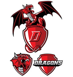 dragon mascot set vector image