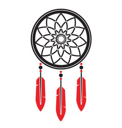 dream catcher symbol isolated on white vector image