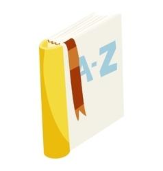 English dictionary book icon cartoon style vector