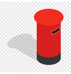 English inbox isometric icon vector